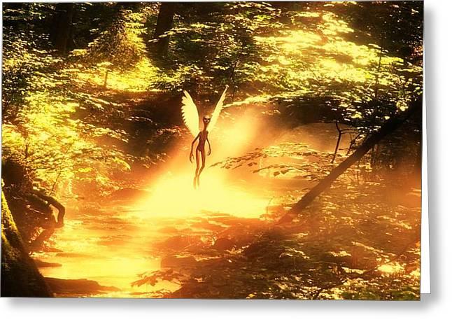 Alien Angel By Raphael Terra Greeting Card by Raphael Terra