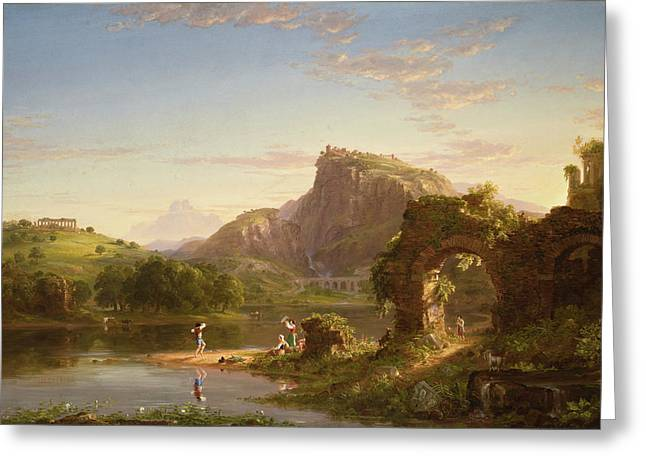 Allegro Greeting Card by Thomas Cole