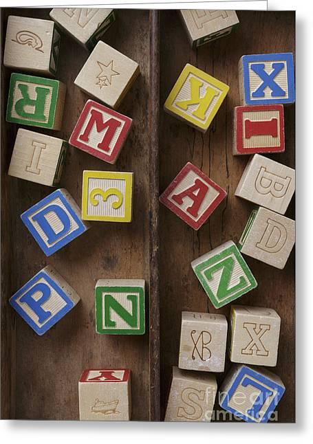 Alphabet Blocks Greeting Card