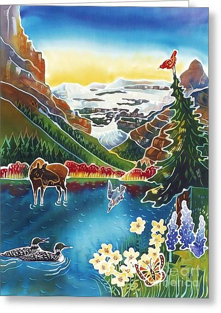 Alpine Lake Sunrise Greeting Card