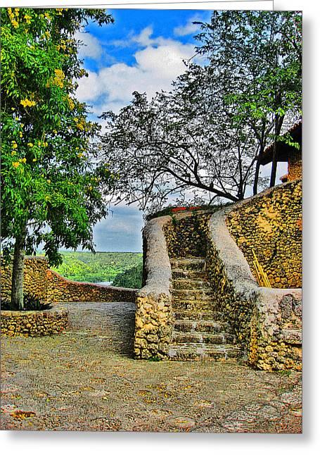 Altos De Chavon Texture. Republica Dominicana. Greeting Card by Andy Za