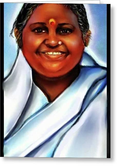 Spiritual Amma -the Hugging Saint Greeting Card