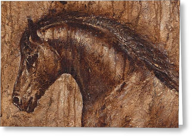 Ancient Glory Greeting Card by Paula Collewijn -  The Art of Horses