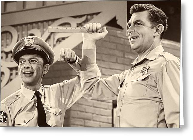 Andy Griffith And Don Knotts 1970 Greeting Card by Mountain Dreams