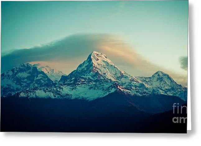 Annapurna South At Sunrise In Himalayas Artmif Photo Raimond Klavins Greeting Card