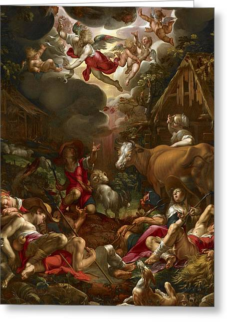 Annunciation To The Shepherds Greeting Card