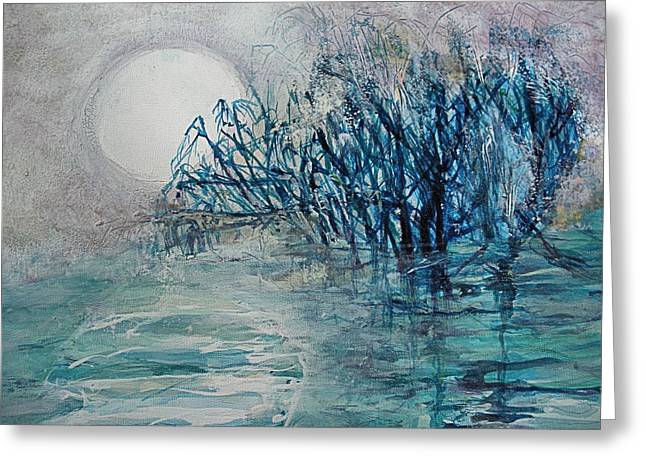 another  Moon river Greeting Card by Mary Sonya  Conti