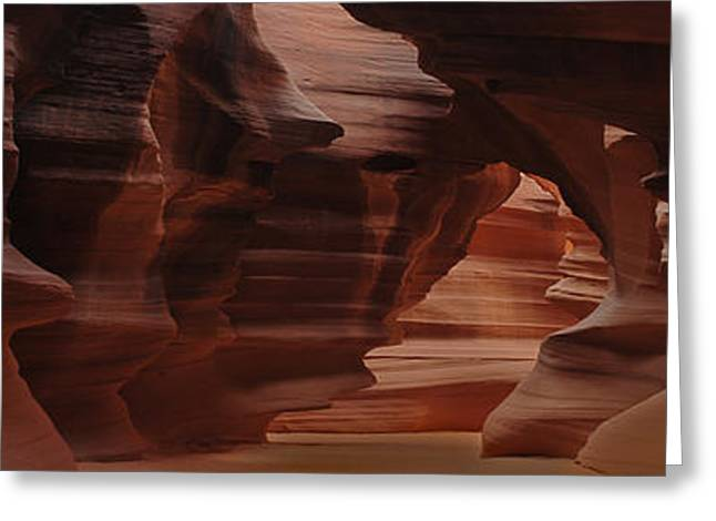 Antelope Canyon Greeting Card by Don Wolf