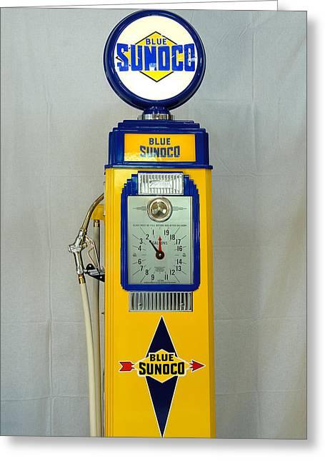Antique Gas Pump Greeting Card