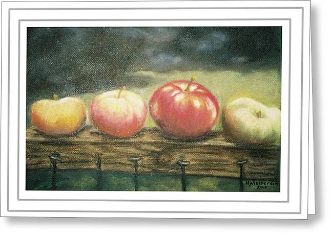 Apples On A Rail Greeting Card