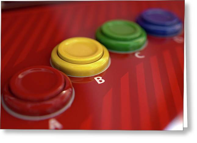 Arcade Control Panel  Greeting Card