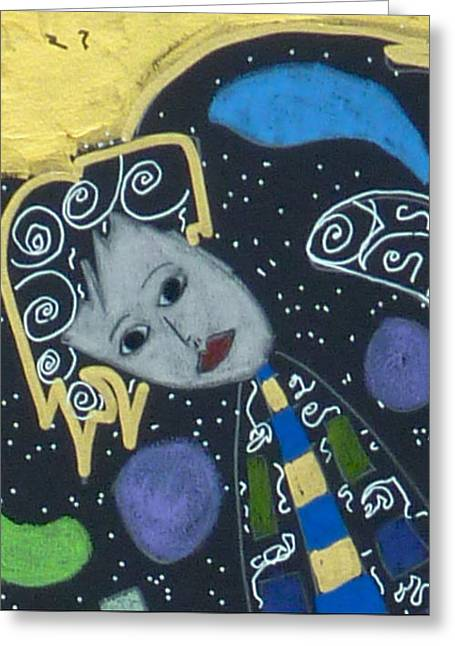 Greeting Card featuring the painting Archangel Jophiel by Clarity Artists