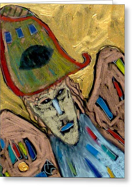 Greeting Card featuring the painting Archangel Michael by Clarity Artists