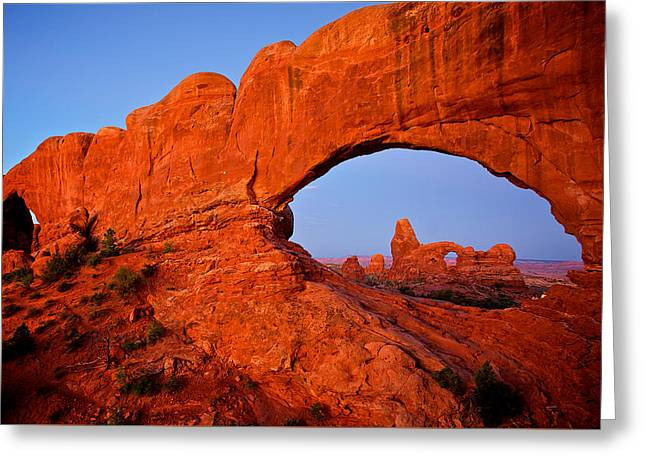 Greeting Card featuring the photograph Arches by Evgeny Vasenev