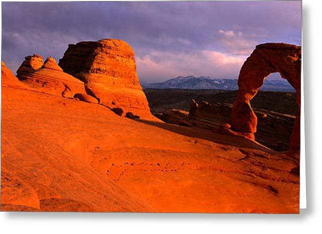 Arches National Park, Utah, Usa Greeting Card by Panoramic Images