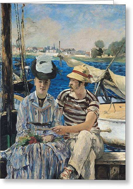 Argenteuil Greeting Card by Edouard Manet