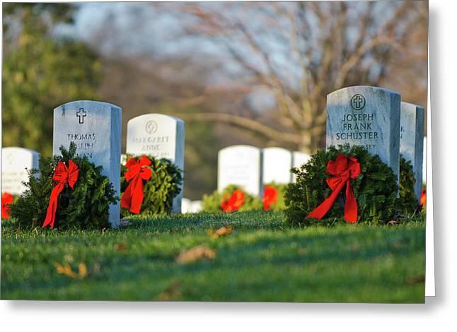 Arlington National Cemetery At Christmas Greeting Card