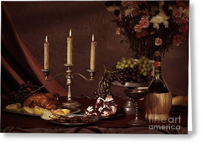 Artistic Food Still Life Greeting Card by Oleksiy Maksymenko