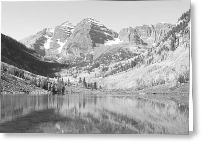 Aspens And Morning Light, Maroon Bells Greeting Card