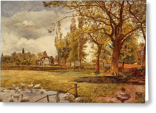 At Hale, Lancashire Greeting Card by William Davis