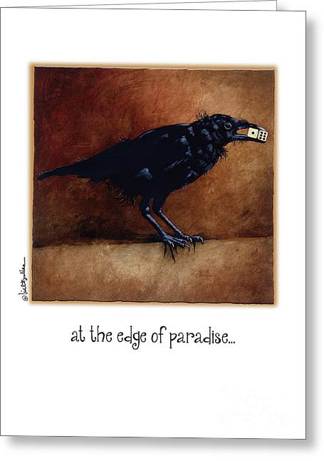 At The Edge Of Paradise... Greeting Card