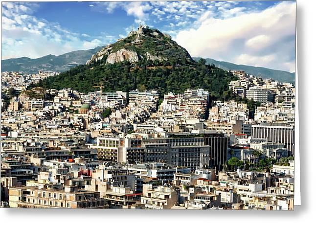 Athens Panorama Greeting Card