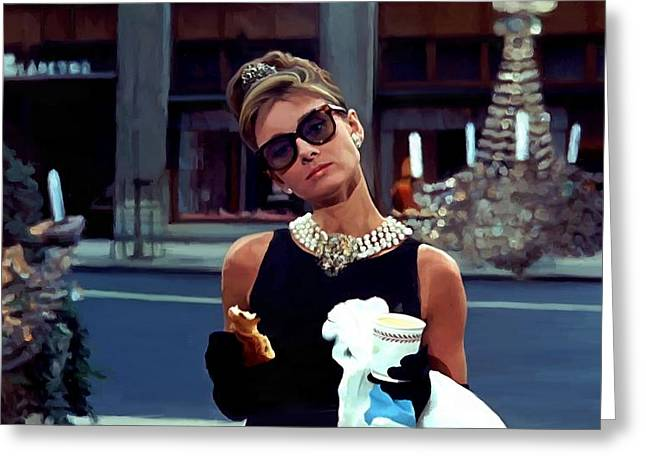 Audrey Hepburn @ Breakfast At Tiffanys Greeting Card