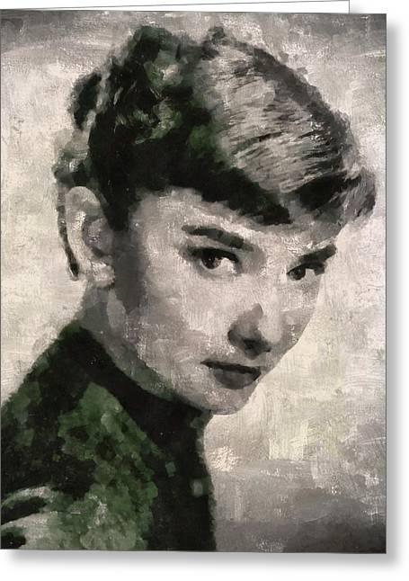 Audrey Hepburn Hollywood Actress Greeting Card