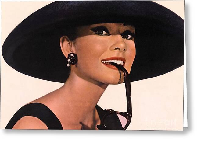 Audrey Hepburn In Breakfast At Tiffany's Greeting Card