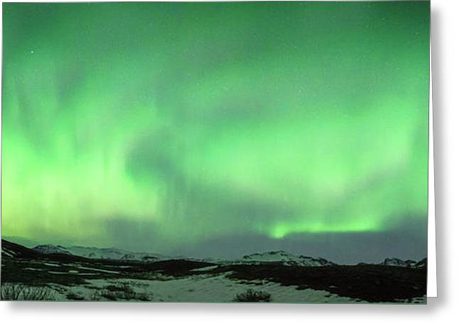 Aurora Borealis Or Northern Lights. Greeting Card by Andy Astbury