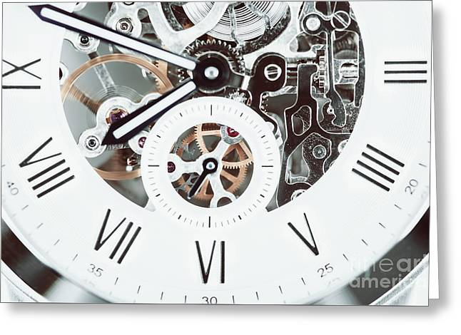 Automatic Men Watch With Visible Mechanism Greeting Card by Radu Bercan