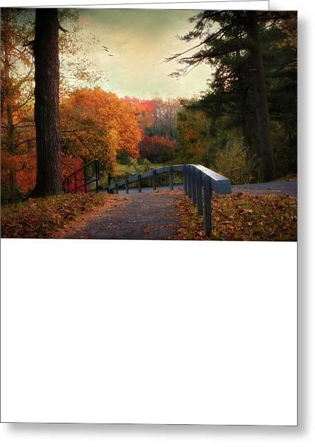 Autumn Ablaze Greeting Card by Jessica Jenney