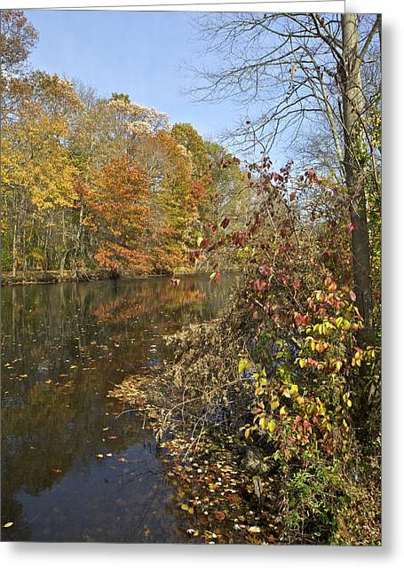 Autumn Colors On The Canal Greeting Card