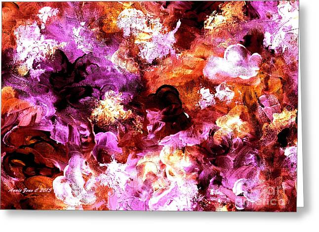 Autumn Floral Abstract Art Greeting Card