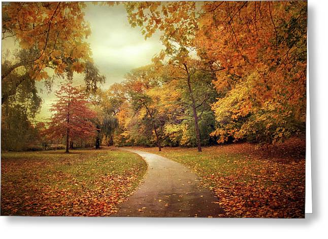 Autumn In Peak Greeting Card by Jessica Jenney