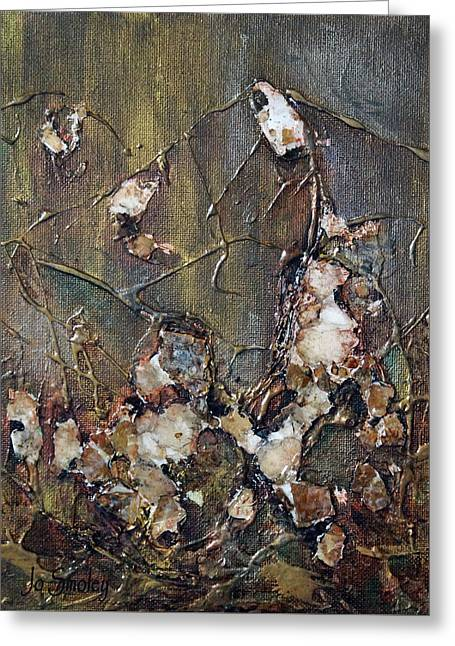 Greeting Card featuring the painting Autumn Leaves by Joanne Smoley