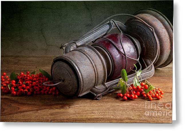 Autumn Still Life Greeting Card by Nailia Schwarz