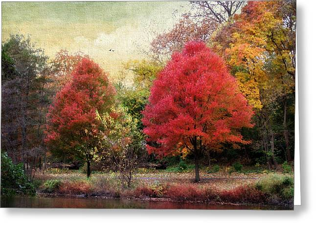 Autumn's Canvas Greeting Card by Jessica Jenney