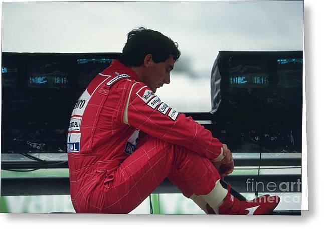 Ayrton Senna. 1992 French Grand Prix Greeting Card