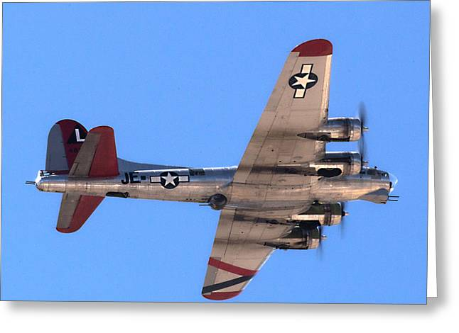 Greeting Card featuring the photograph B-17 Bomber by Dart Humeston