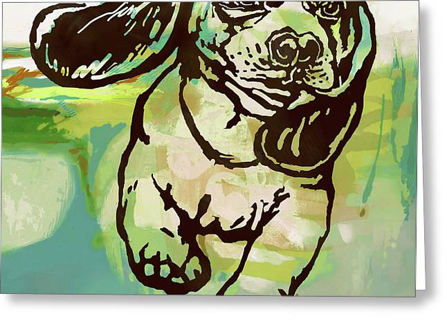 Baby Dog -  Pop Art Poster Greeting Card
