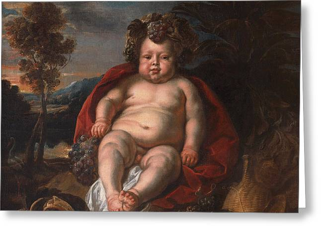 Bacchus As A Child Greeting Card