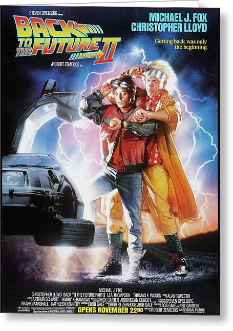 Back To The Future Delorean Part 2 Greeting Card