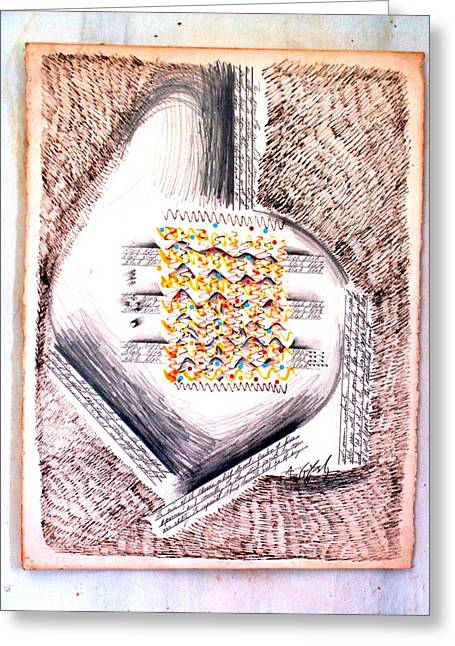 Song Of The Heart Greeting Card by Al Goldfarb