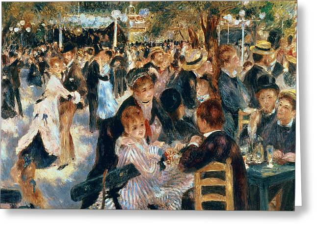 Ball At The Moulin De La Galette Greeting Card by Pierre Auguste Renoir