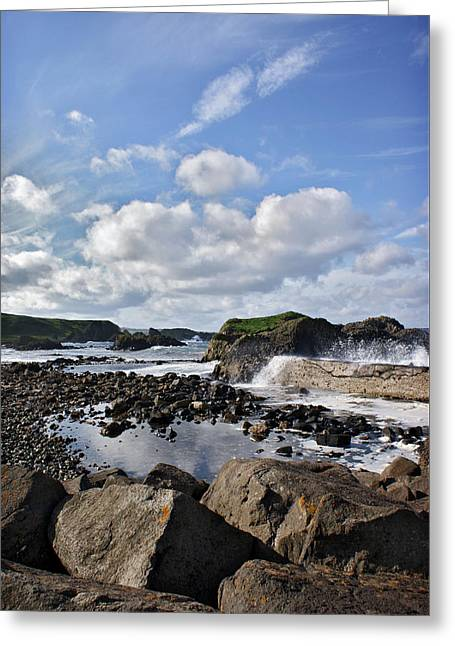 Greeting Card featuring the photograph Ballintoy Bay by Colin Clarke