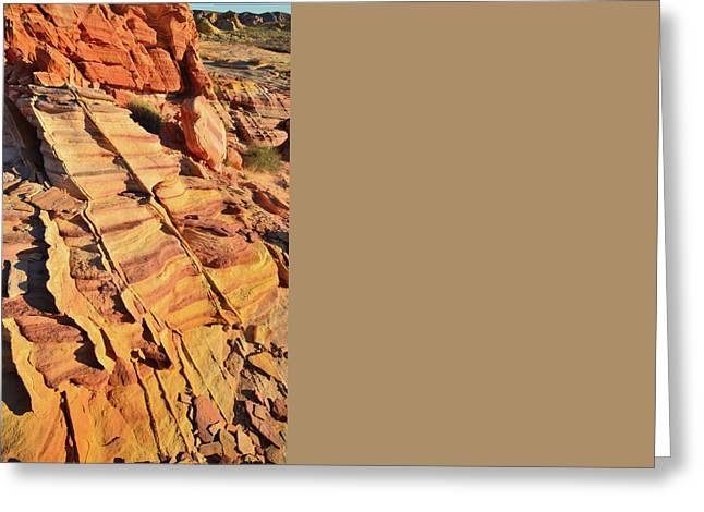 Greeting Card featuring the photograph Bands Of Color In Valley Of Fire by Ray Mathis