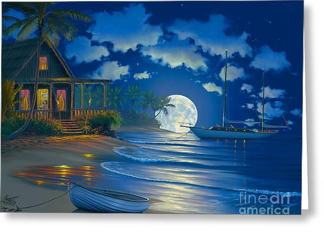 South Seas Paradise Greeting Card by Al Hogue