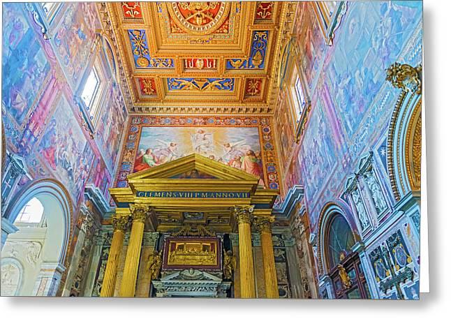 Basilica Of Saint John Lateran In Rome, Italy. Greeting Card by Marek Poplawski