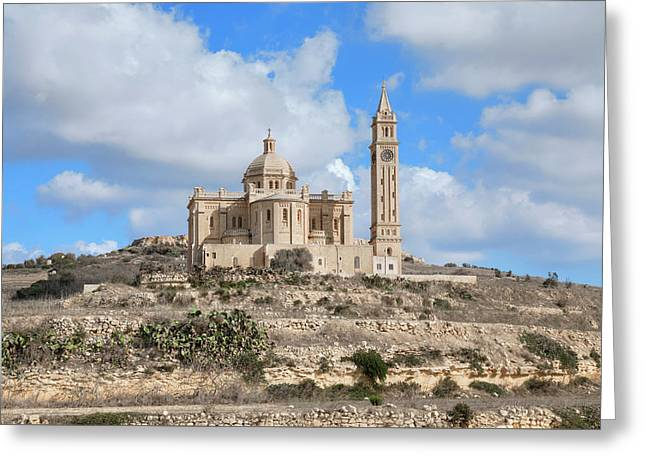 Basilica Ta Pinu - Gozo Greeting Card by Joana Kruse